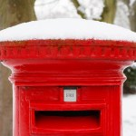 Postbox at Christmas