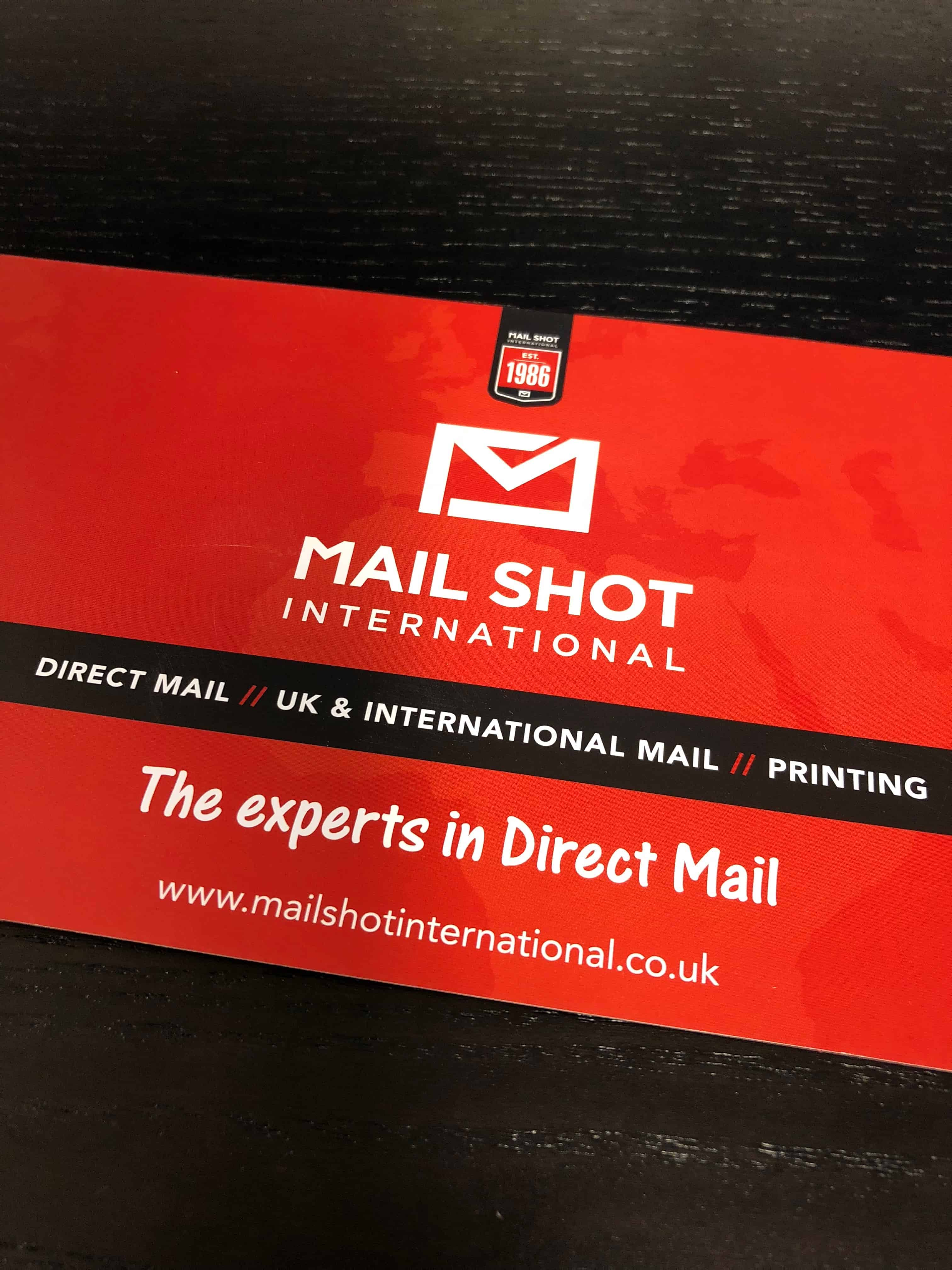 Direct Mail – Postcard mailing