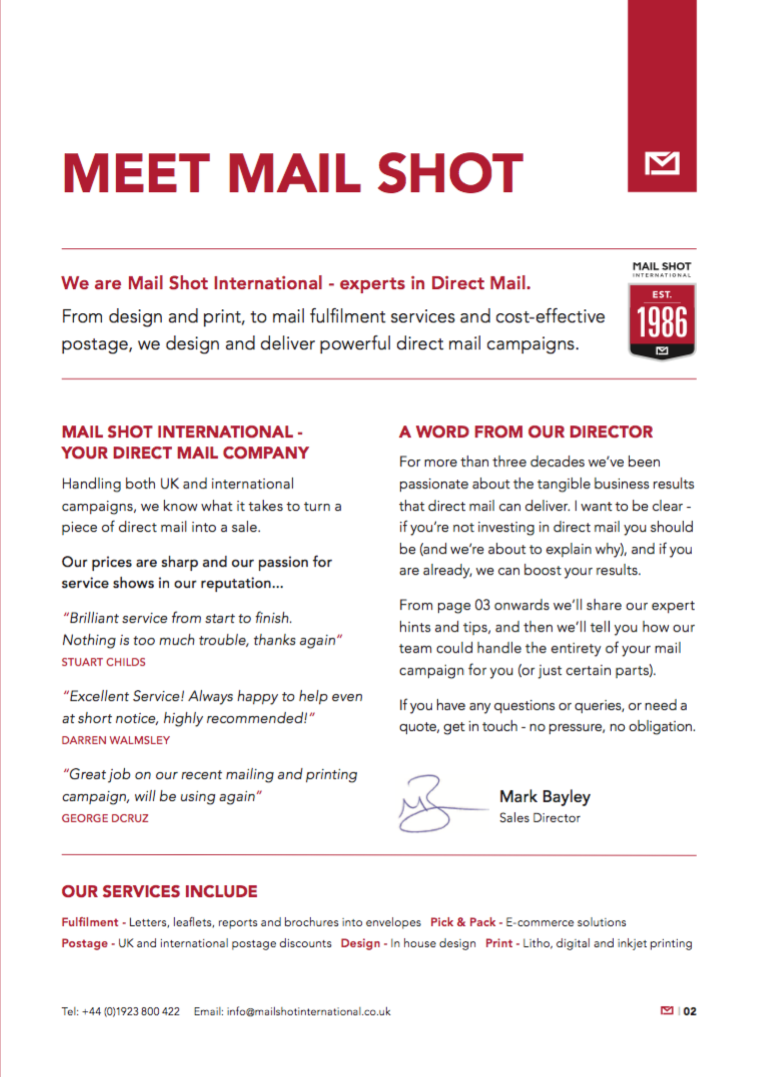 Mail Shot 3
